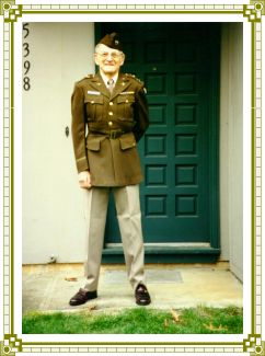 Carl Leroy Hovander, in his WW II Army Air Corp uniform 1996